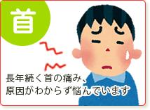 首(寝違えの痛みがなかなかとれない…)